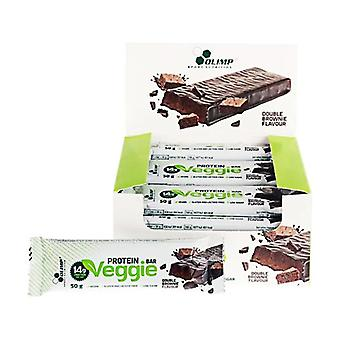 Veggie protein bars double brownie flavor 24 bars of 50g