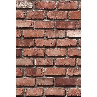Stone Brick Pattern Wall Paper (5,33 Sqm)