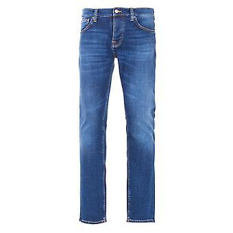 Nudie Jeans Co Grim Tim Slim Fit Jeans - Indigo Myth