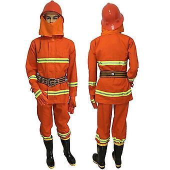 Fireproof Suit Miniature Fire Station Complete Equipment With Helmet Gloves