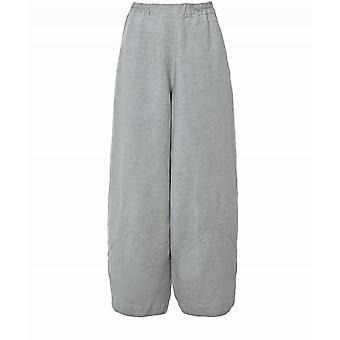 Grizas Wide Leg Linen Trousers