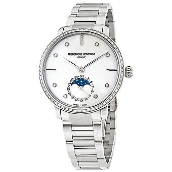 Frederique Constant Slimline Moonphase Silver Diamond Dial Automatic Men's Watch FC-703SD3SD6B