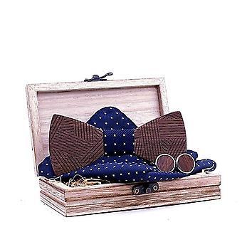 Tie Set Striped Wood