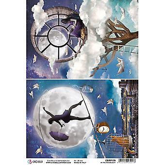 Ciao Bella Piuma Rice Paper A4 - In the Moonlight