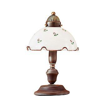 Kolarz NONNA - Cottage Style Glazen Koepel Tafellamp Mat Antiek Messing, 1x E27