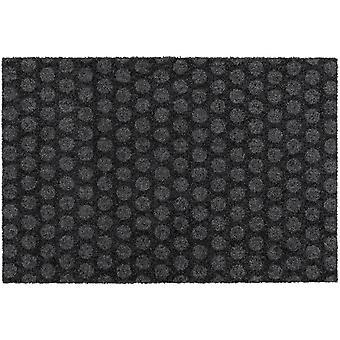 MOCAVI Steg 330 Design dörrmatta kantlös antracit 50 x 70 cm Ren-löpande matta prickar