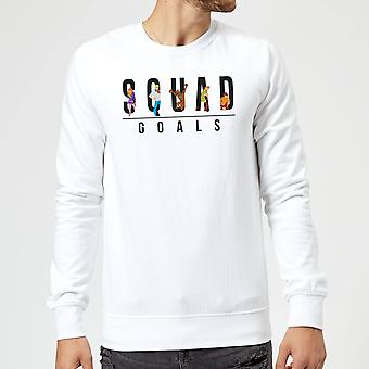Scooby Doo Squad Goals Merchandise Long Sleeve Sweatshirt Jumper Top - White