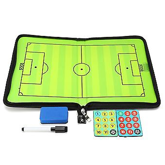 Portable Leather Magnetic Foldable Football Tactical Board Training Coaching