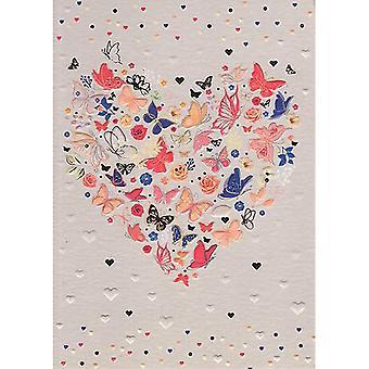 ICG Ltd Pretty In Peach Birthday Card-butterflies