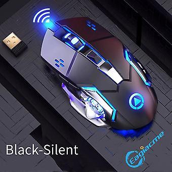 Professional 6 keys vezeték nélküli gamer egér (fekete)