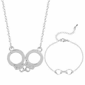 Crystal Dangle Bracelet Necklace