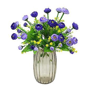 5pcs flores artificiales camelia escritorio decoraciones flores secas regalo de flores falsas para las mujeres