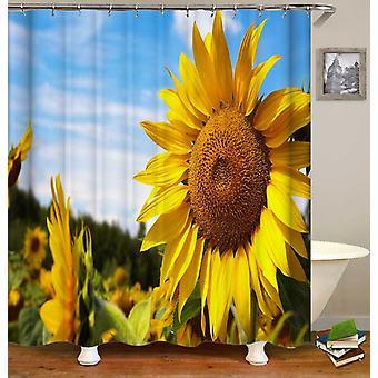 Wspaniała żółta kurtyna prysznicowa słonecznika