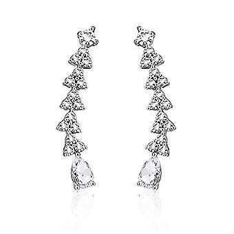 Nail earrings, clip earrings, feather-shaped earrings, cross, star, leaf, branch, Autiga Ref women's Ear Crawler. 4058433105669