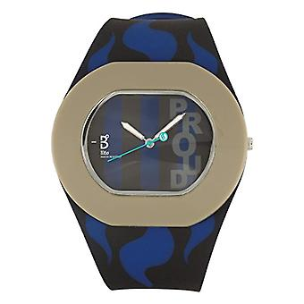 B360 WATCH Unisex Wristwatch B PROUD Large, 3 bars quartz in inter Milan silicone