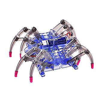 DIY Spider robot technological inventions electric crawling RC toy assembly RC Robot kit|Robot(Blue)