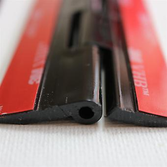 4x Black Acrylic Hinges – No glue required, Self Adhesive. Black Plastic 150mm