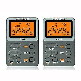 Mini Pocket Am/fm Radio, Best Reception, Rechargeable Portable Radio With