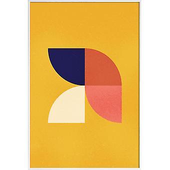JUNIQE Print - Tesolate - Abstraite & Géométrique poster en Bleu & Jaune