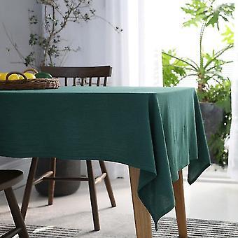 For nordisk solid dug hjem japansk håndklæde spisedug obrus dug (mørkegrøn) WS16485