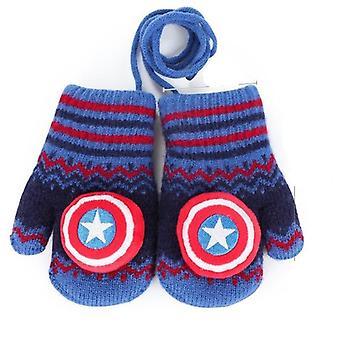 Spiderman's Fall Winter Plus Aksamitne ciepłe rękawiczki