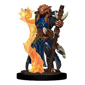 D&D Ikoner av sfärernas premiumfigurer (W4) Dragonborn Trollkarl Kvinna