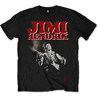 Jimi Hendrix Block Logo Mens Blk T Shirt: X Large