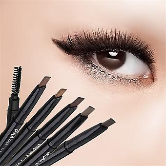 Waterproof Double Head Makeup Automatic Eyebrow Pencil With Eye Brows Brush