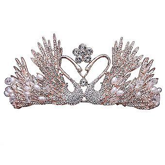 Morsiuspää riisuttu kruunu timantti Tiara hää helmi korut