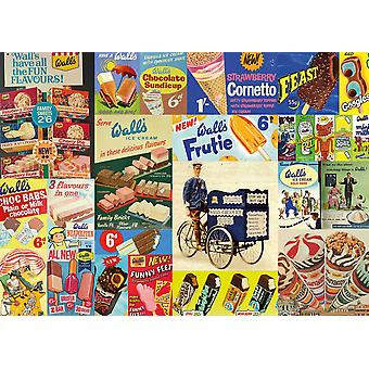 Gibsons Vintage Wall's Jigsaw Puzzle (1000 pieces)