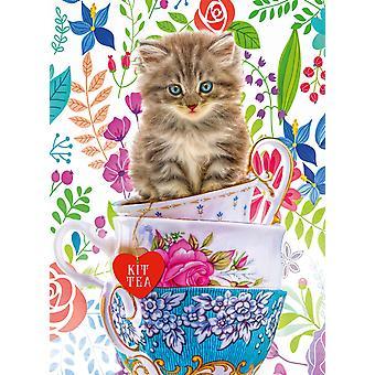 Ravensburger Teacup Kitty Palapeli (500 Kappaletta)