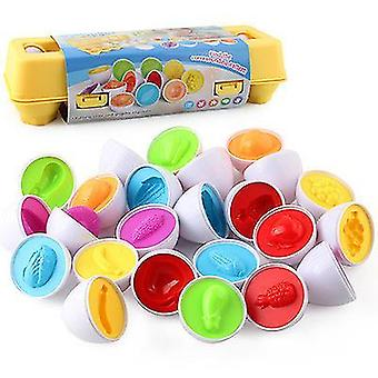 Matching Eggs Color,shape Recoginition Sorter Puzzle(Fruit)