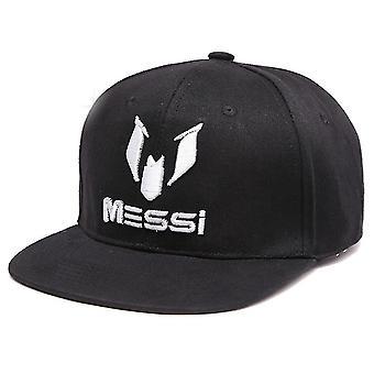 Homme Baseball Cap Football Messi Sports Cap Noir Broderie Confortable Coton Snapback Chapeau Extérieur