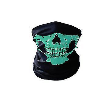 Multifunkční venkovní bezolovinový opalovací límec, jezdecká maska (zelená)