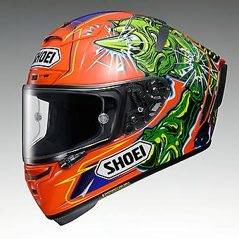 Shoei X-Spirit 3 Power Rush TC8 Motorcykel Hjälm Orange