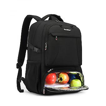 Lunch Rucksack für Frauen Multifunktionale Kühltaschen 15,6 Zoll Laptop Rucksack mit auslaufsicherem isoliertem Fach, grau