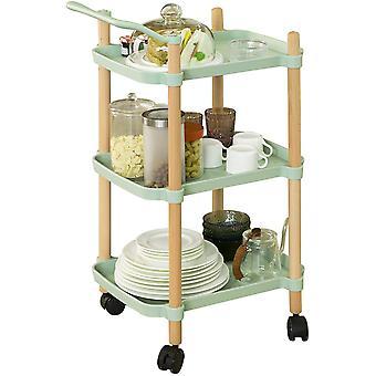 SoBuy SVW06-GR,3 Tier Servierwagen für Küche und Wohnzimmer