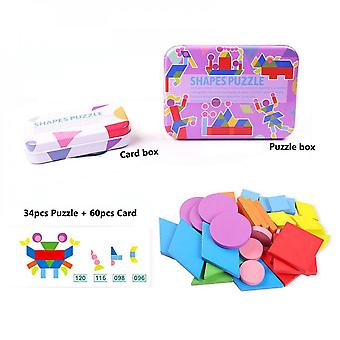 3d Puzzles, Interesting Shapes, Colorful Wooden Toys, Cognitive And Interactive Learning Games, Educational Toys-(c)