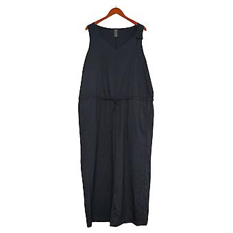 zuda Plus Jumpsuits Z-Eco Regular Cropped Jumpsuit Blue One-Piece A377782