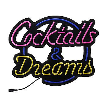 Insegne al neon cocktail sogno vero tubo di vetro neon segno di luce per la decorazione