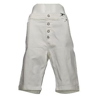 DG2 af Diane Gilman Kvinders Petite Shorts Faux Button Fly White 742917