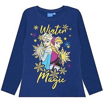 Frozen Girls Winter Magic Anna y Elsa Glitter Camiseta de manga larga