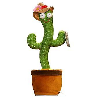 Electronic Dancing Cactus Soft Toy With Song 32cm-green
