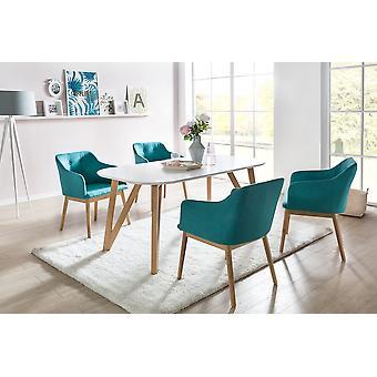 Tomasso's Brindisi Dining Table - Modern - White - Mdf - 120 cm x 80 cm x 76 cm