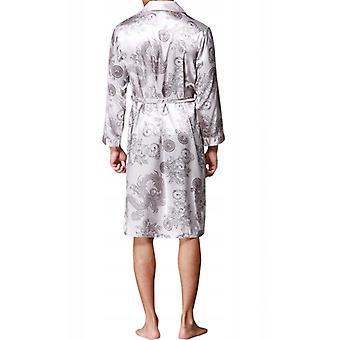 Halat de baie din satin pentru bărbați. Silk Nightwear
