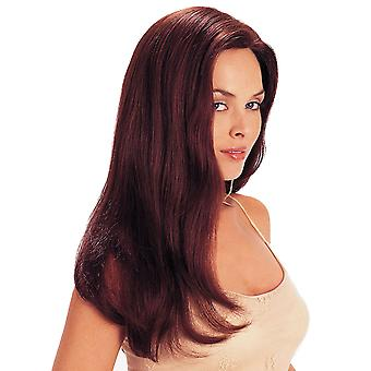 Brand Mall Wigs, Lace Wigs, Lifelike Fluffy Long Hair Straight Hair Burgundy Personality Wig