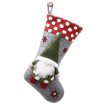 3d Elf Doll Christmas Socks For Christamas Night, Gift Socks