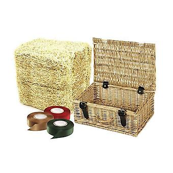 Regalo de cesta de Picnic de mimbre 25 paquetes de 36 cm cesta