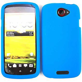 Étui en Silicone de luxe cellulaire illimité pour HTC un S (bleu)