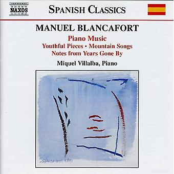 M. Blancafort - Manuel Blancafort: Complete Piano Music, Vol. 1 [CD] USA import